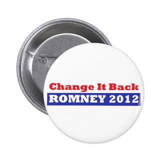 Mitt Romney for President stars and stripes Pin