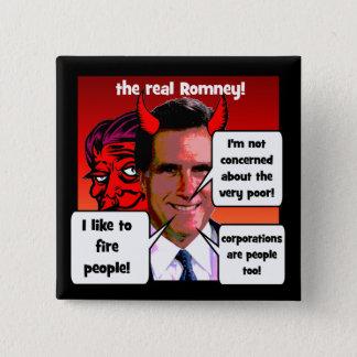 Mitt Romney gaffs 15 Cm Square Badge