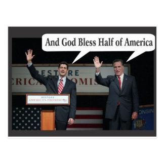 Mitt Romney Hates you 47% Vote for Barack Obama Postcards