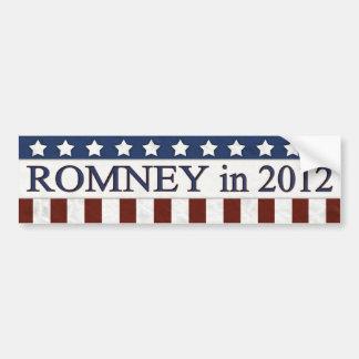 Mitt Romney in 2012 Bumper Sticker