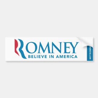 Mitt Romney Logo Believe In America Bumper Sticker