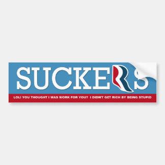 Mitt Romney - LOL Suckers! Bumper Stickers
