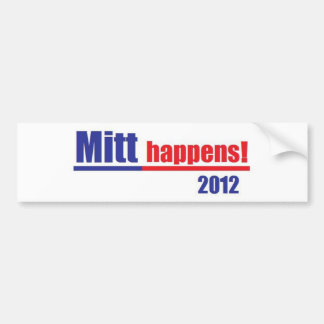 "Mitt Romney ""Mitt Happens"" Bumper Stickers"