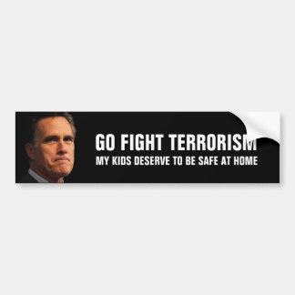 Mitt Romney on fighting terrorism Bumper Sticker