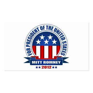 Mitt Romney Pack Of Standard Business Cards