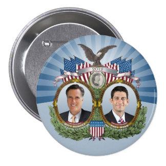 Mitt Romney Paul Ryan Jugate 7.5 Cm Round Badge