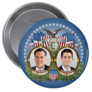 Mitt Romney Paul Ryan Photo 10 Cm Round Badge