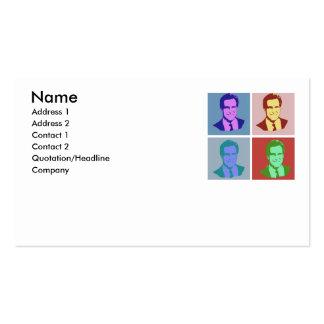 MITT ROMNEY Pop Art Double-Sided Standard Business Cards (Pack Of 100)