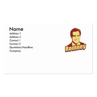 MITT ROMNEY Propaganda Poster Double-Sided Standard Business Cards (Pack Of 100)
