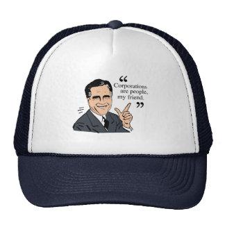 Mitt Romney Quotes color Trucker Hats