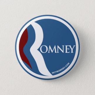 "Mitt Romney ""R"" Logo Circle (Blue) 6 Cm Round Badge"