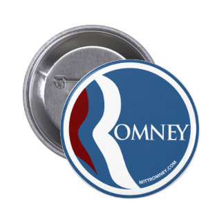"Mitt Romney ""R"" Logo Circle (Blue) 6 Cm Round Badge"