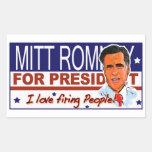 mitt romney rectangular sticker