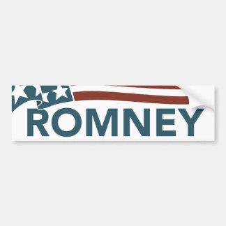 Mitt Romney Ryan Faded Flag Bumper Sticker