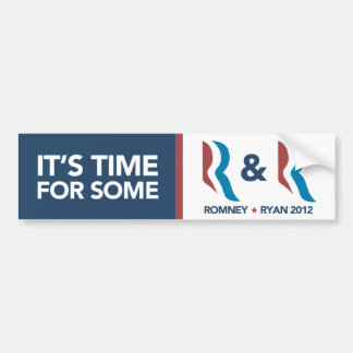 Mitt Romney Ryan Time For Some R and R Sticker Bumper Sticker