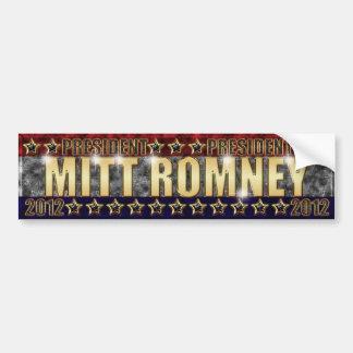 Mitt Romney Stars and Stripes 2. Car Bumper Sticker