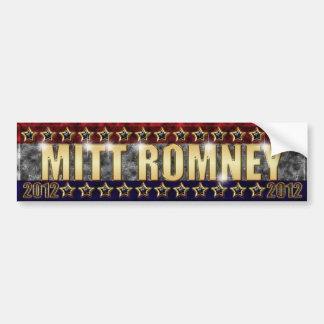 Mitt Romney Stars and Stripes Car Bumper Sticker
