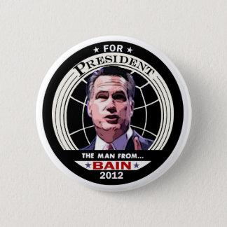 Mitt Romney: The Man from BAIN 6 Cm Round Badge