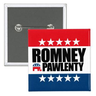 Mitt Romney Tim Pawlenty 2012 15 Cm Square Badge
