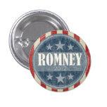 Mitt Romney  - vintage stars and stripes 3 Cm Round Badge