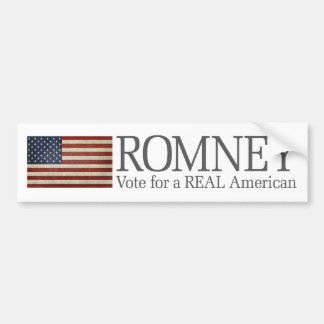 Mitt Romney - Vote for a REAL American Bumper Sticker