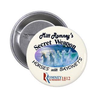 Mitt Romney's Secret Weapon 6 Cm Round Badge
