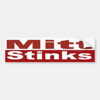 Mitt Stinks Large Letters Bumper Stickers