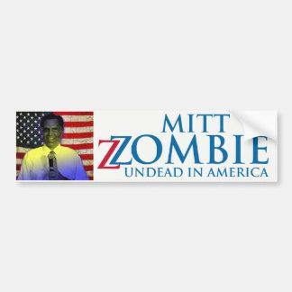 Mitt Zombie Bumper Sticker
