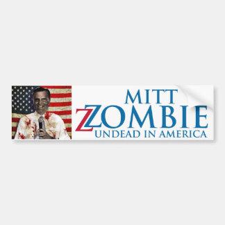 Mitt Zombie Horror Bumper Sticker
