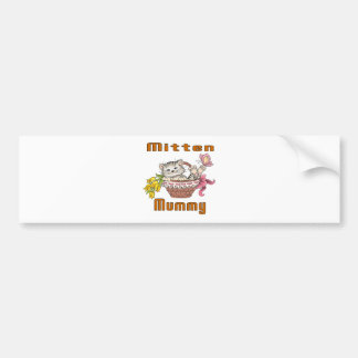 Mitten Cat Mom Bumper Sticker