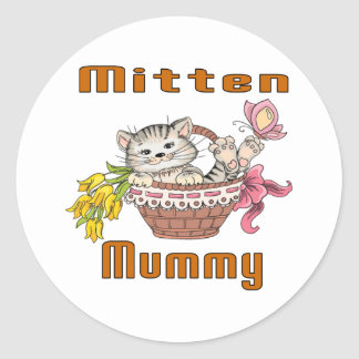 Mitten Cat Mom Classic Round Sticker