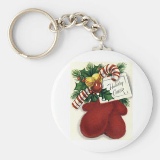 Mittens and Peppermint Keychain