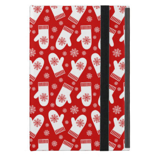Mittens and Snowflakes Retro Christmas Ski Holiday Covers For iPad Mini