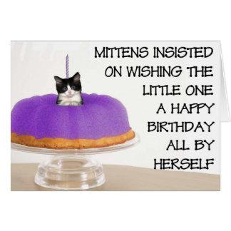 Mittens' birthday greeting card