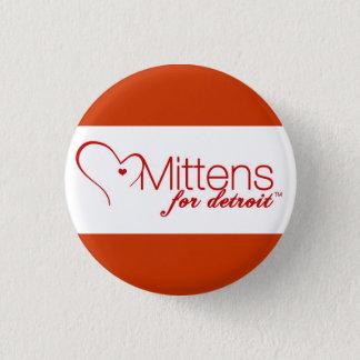 Mittens for Detroit Pinback Button
