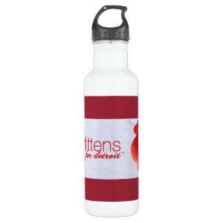 Mittens for Detroit Water Bottle (24 oz), White 710 Ml Water Bottle
