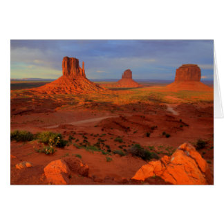 Mittens, Monument valley, AZ Card