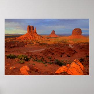 Mittens, Monument valley, AZ Poster