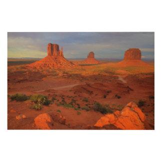 Mittens, Monument valley, AZ Wood Prints