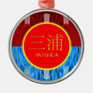 Miura Monogram Fire & Ice Silver-Colored Round Decoration