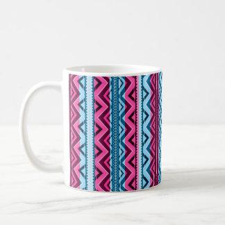 Mix #311 - Pink And Blue Aztec - Mug