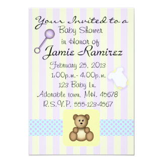 """mix and match Baby Shower Invitation 5"""" X 7"""" Invitation Card"""
