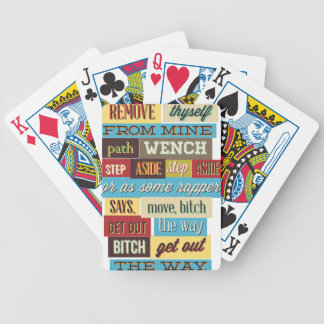 mix cute cool designs bicycle playing cards