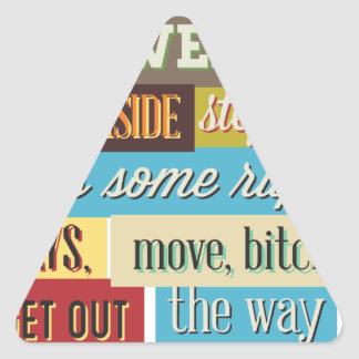 mix cute cool designs triangle sticker