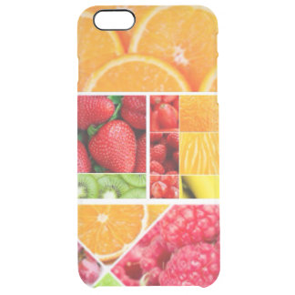 Mix FRuit Collage Clear iPhone 6 Plus Case