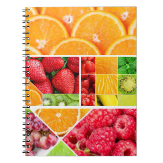 Mix FRuit Collage Spiral Notebook