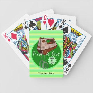 Mix it up Hand Mixer Retro Design Poker Deck