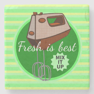 Mix it up Hand Mixer Stone Coaster