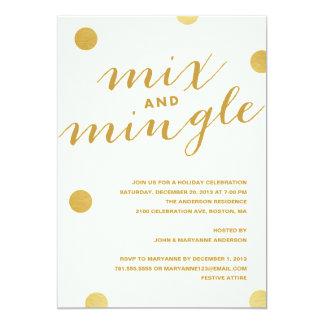 MIX & MINGLE GOLD DOTS | HOLIDAY PARTY INVITATION