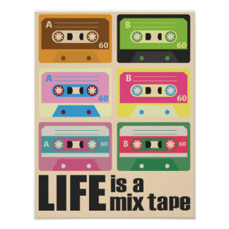 Mix Tape Cassette Tape Poster